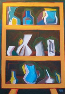 Alacena Dos Acrylic on wood 25″ x 36 1/4″ $17,000.00