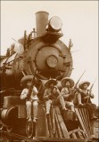 """Locomotivo"" en el Estado de Morelos <br />Locomotive in the state of Morelos<br /> 1910"